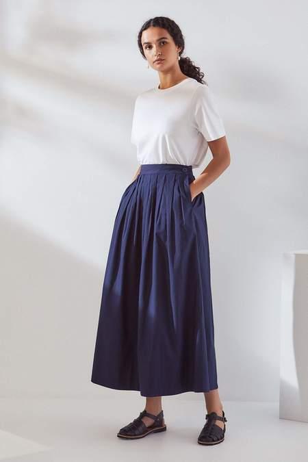 Kowtow Line Skirt - navy
