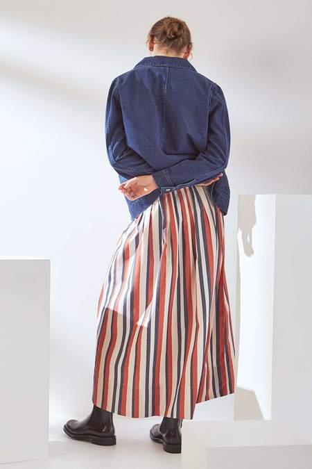 Kowtow Line Skirt - parasol stripe