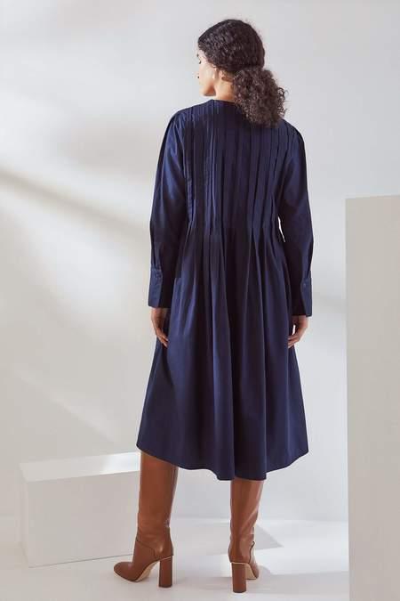 Kowtow Linear Dress - navy