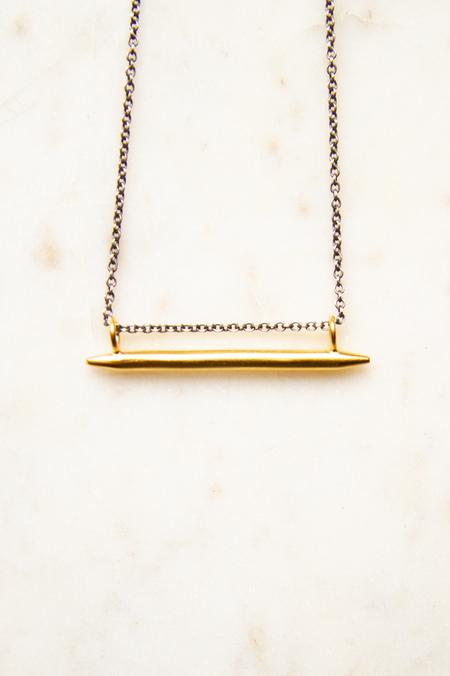 Jane Diaz NY Bar Amulet Necklace - Gold