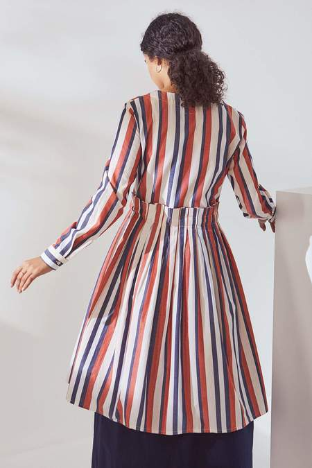 Kowtow Story Dress - parasol stripe