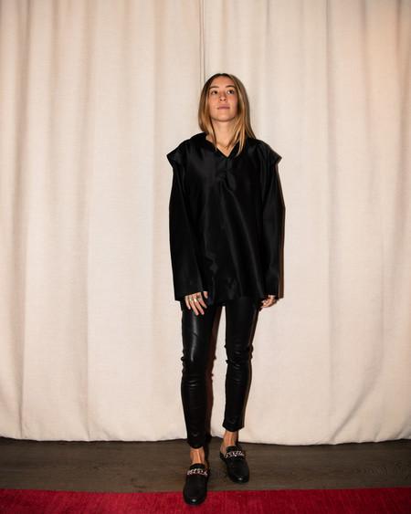 Christopher Esber Buttonless Satin Jacket - black