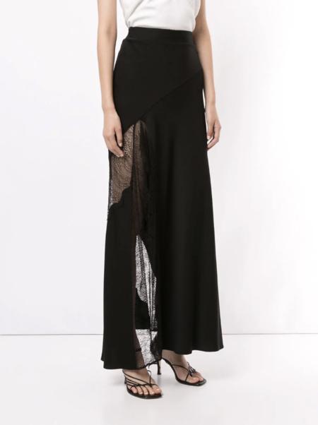Christopher Esber Lace Split Skirt - black