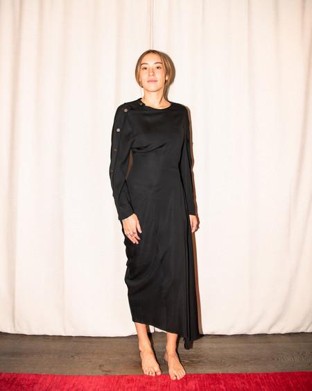 Christopher Esber Modus LONG SLEEVE Button Up Dress - black
