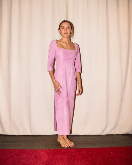 Alejandra Alonso Rojas Suede Sheath Dress - Raspberry