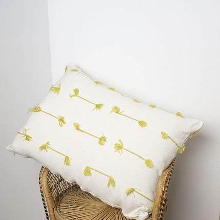 Hotel Baalbek Pompons Pillow - Green