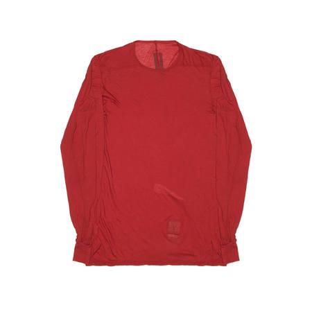 RICK OWENS DRKSHDW Long Sleeve Level Tee - Red
