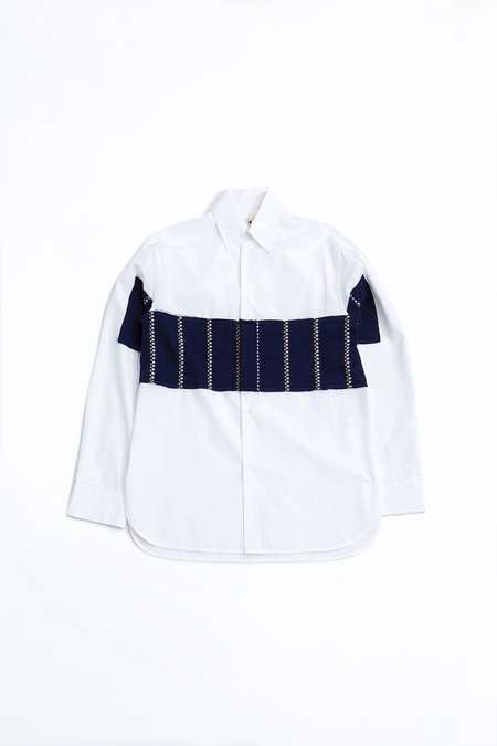 Marni Poplin shirt - white/navy