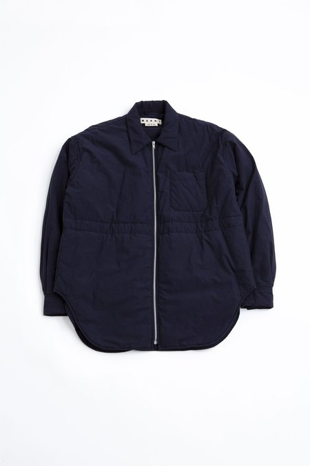 Marni Oversized Bomber Jacker - blue navy