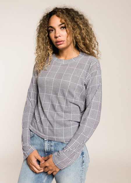 LnA Plaid Strike Long Sleeve - Grey Plaid