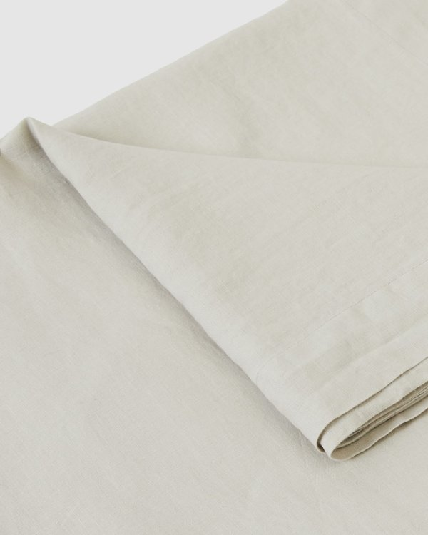 Sunday Morning Babette Linen Tablecloth - Dove