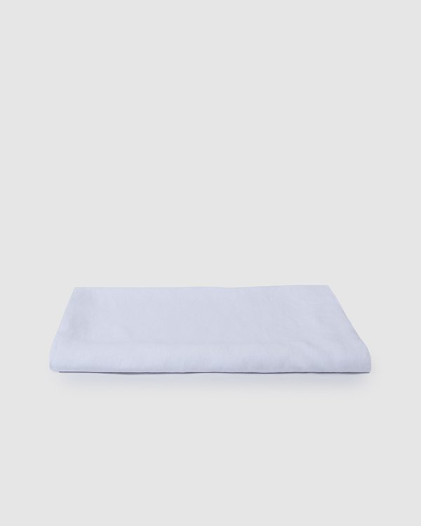 Sunday Morning Babette Linen Tablecloth - Milk