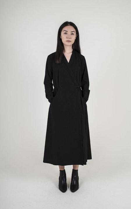AVN Wrap Dress - BLACK