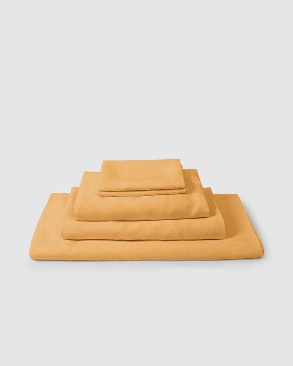 Shop Sunday Morning Marcel Linen Collection Set - Mustard
