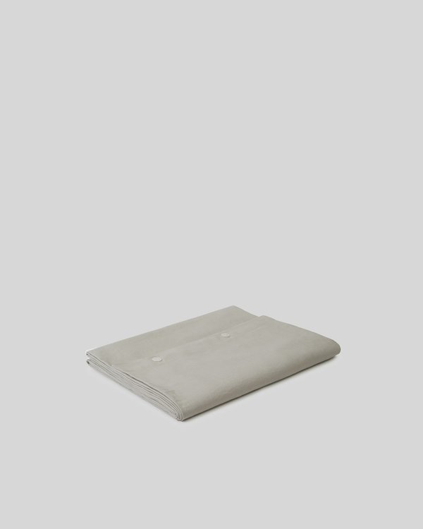 Shop Sunday Morning Marcel Linen Duvet Cover - Dove