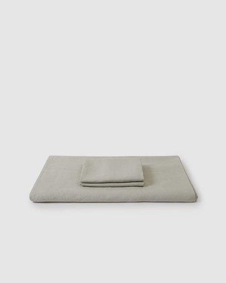 Shop Sunday Morning Marcel Linen Duvet Set - Dove