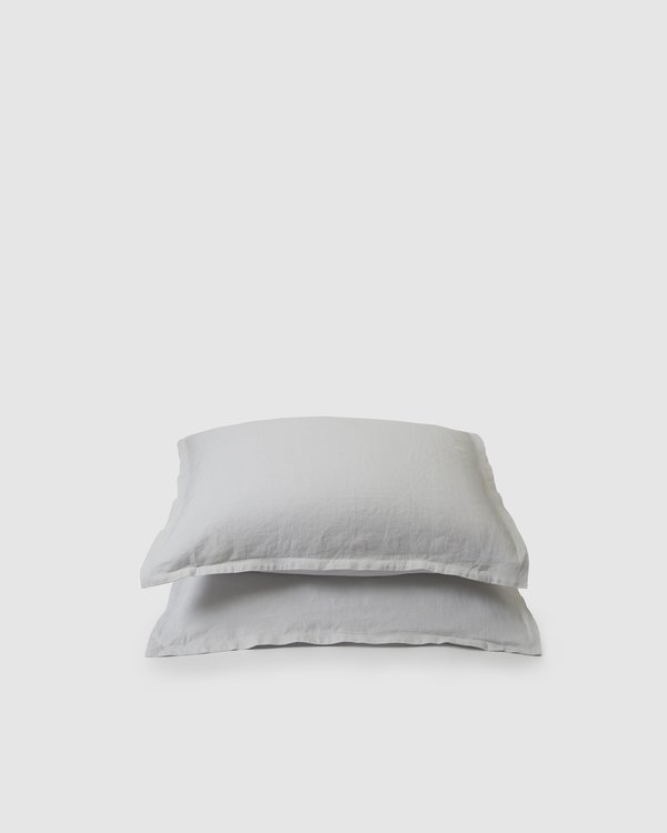 Shop Sunday Morning Marcel Linen Duvet Set - Glacier