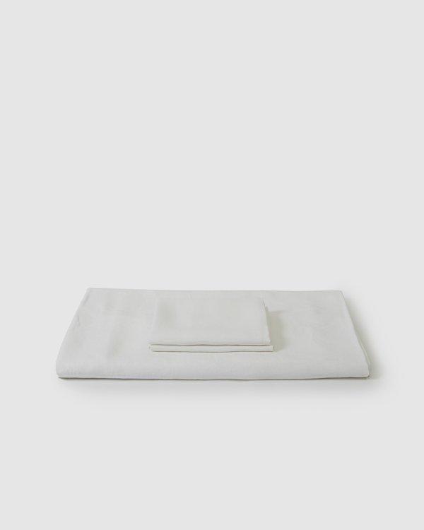 Shop Sunday Morning Marcel Linen Duvet Set - Milk