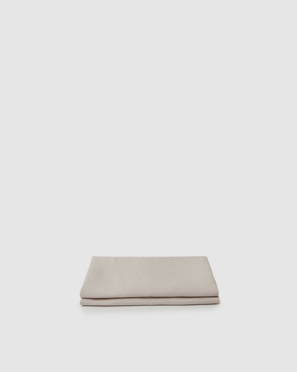 Shop Sunday Morning Marcel Linen Fitted Sheet - Blush