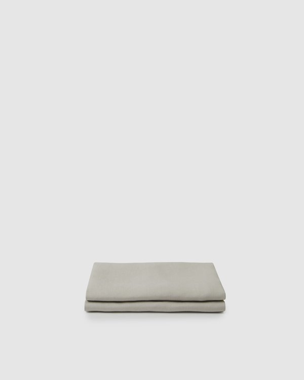 Shop Sunday Morning Marcel Linen Fitted Sheet - Dove