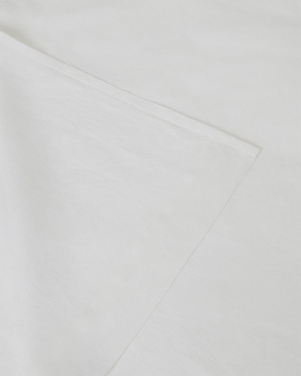 Shop Sunday Morning Marcel Linen Fitted Sheet - Milk
