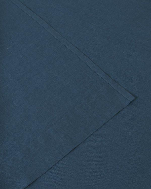 Shop Sunday Morning Marcel Linen Flat Sheet - Adriatic