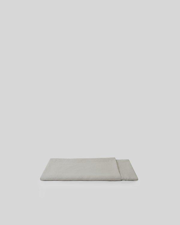 Shop Sunday Morning Marcel Linen Flat Sheet - Dove