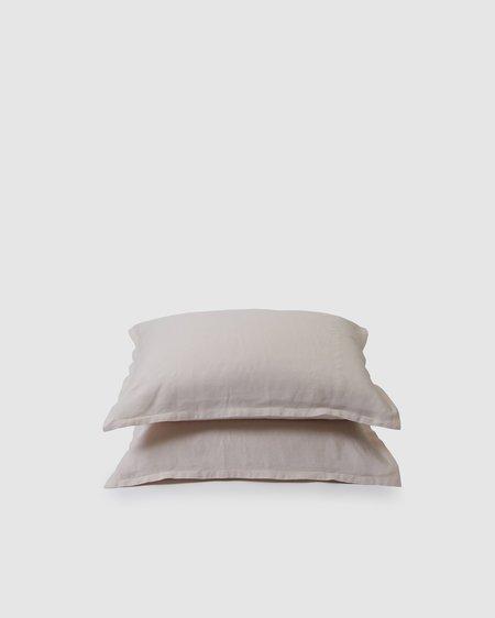 Shop Sunday Morning Marcel Linen Pair Pillowcases - Blush