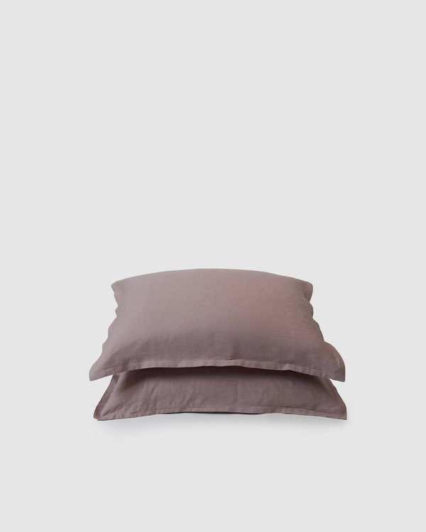 Shop Sunday Morning Marcel Linen Pair Pillowcases - Orchid