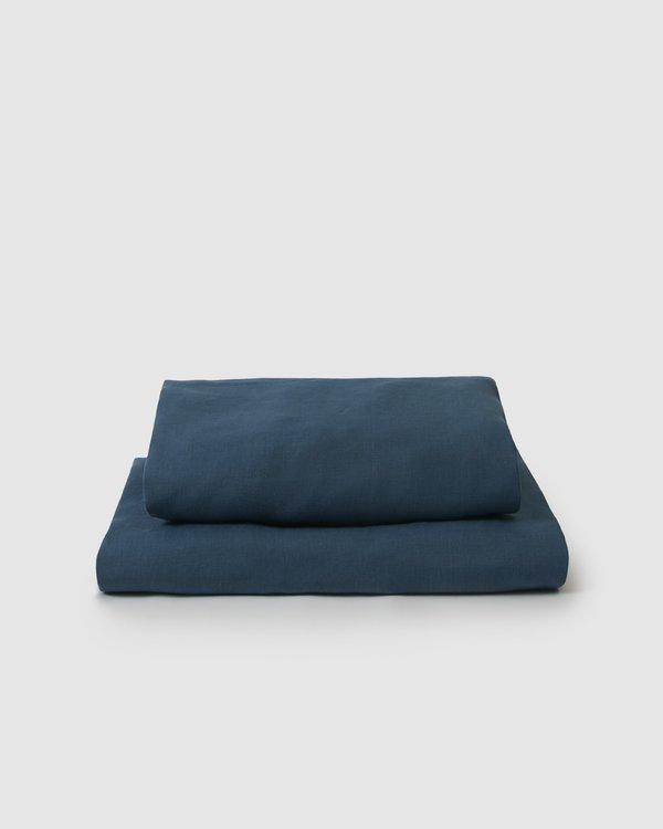 Shop Sunday Morning Marcel Linen Sheet Set - Adriatic