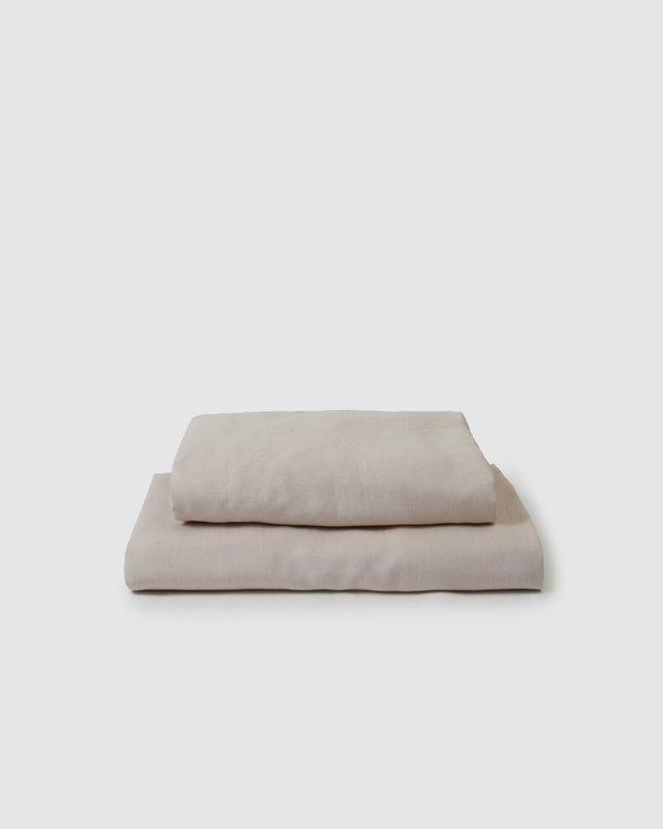 Shop Sunday Morning Marcel Linen Sheet Set - Blush