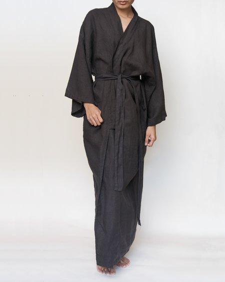 Shop Sunday Morning Sai Full-Length Linen Robe
