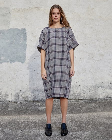 Esby MACI DRESS - MIDNIGHT VINTAGE PLAID