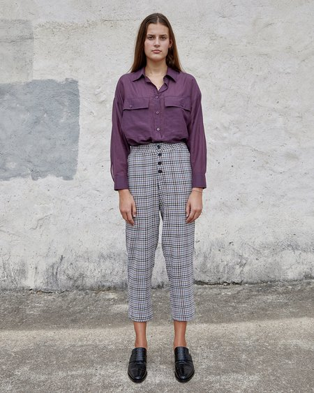 Esby Noelle Pant - Midnight Vintage Check