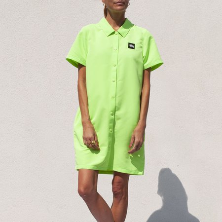 Stussy Nomi House Dress - light neon green