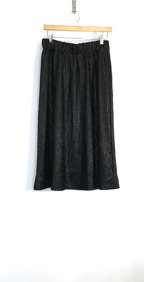 Allison Wonderland Captain Skirt - black metallic