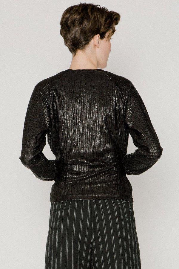 Allison Wonderland Tennille Top - black metallic