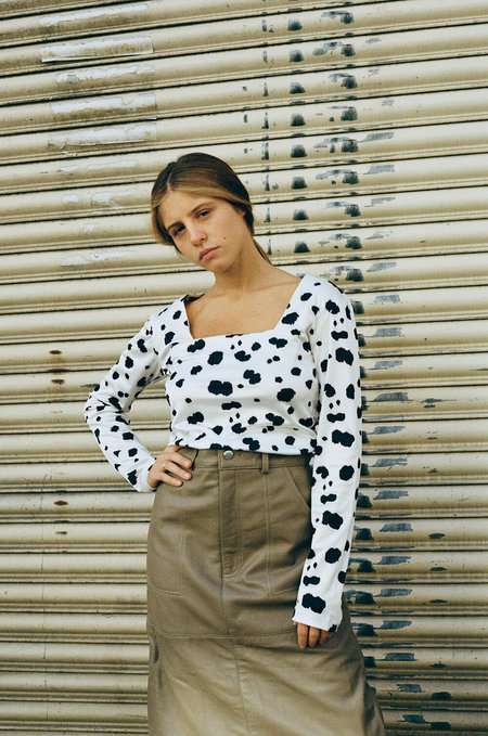 HOSBJERG Olivia Long Sleeve Top - Dalmatian