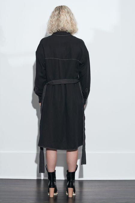 French Connection Milana Caspia Shirt Dress - Black