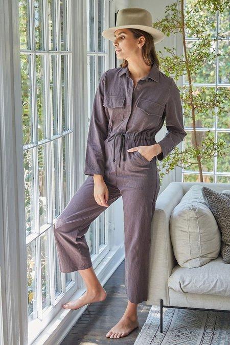 Rachel Pally Dylan Linen Canvas Jumpsuit - Umber