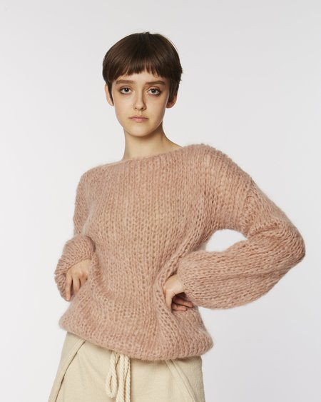 Maiami Mohair Sweater blouse - antique pink