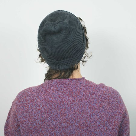 Erdaine Rib Knit Hat - Charcoal