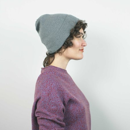 Erdaine Rib Knit Hat - Grey