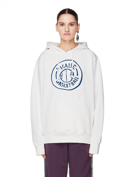 Pigalle Cotton Basketball Hoodie - White
