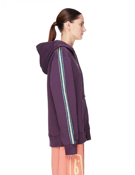 Pigalle Cotton Zip-Up Hoodie - Purple