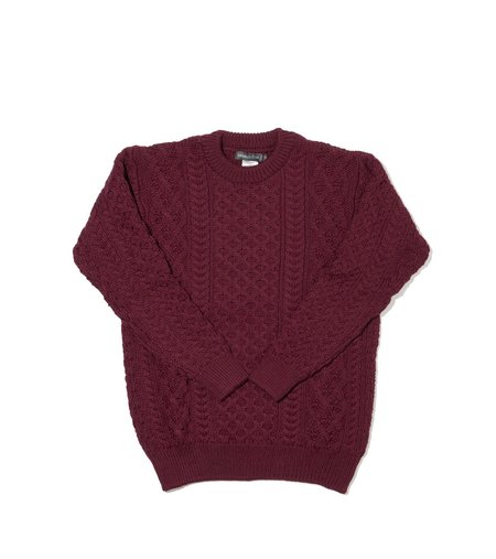 Ireland's Eye Aran Sweater- Claret