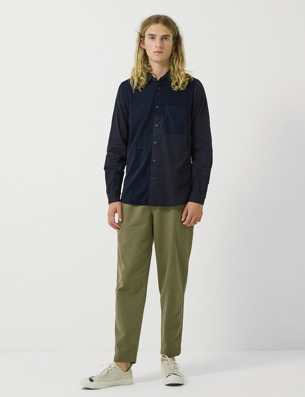 Folk Clothing Folk The Assembly Pleated Trousers - Soft Green Brushed