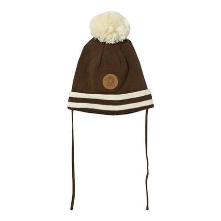 Kids Mini Rodini Stripe Hat - Brown