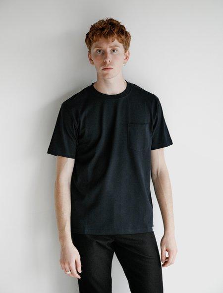 Norse Projects Johannes Pocket Short Sleeve T-Shirt - Dark Navy
