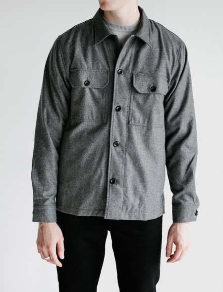 Norse Projects Kyle Wool Overshirt - Charcoal Melange
